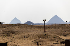 Other pyramids in Saqqara, on the left the Bent Pyramid