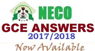 NECO GCE 2017/2018 (MATHEMATICS )ANSWERS / RUZ