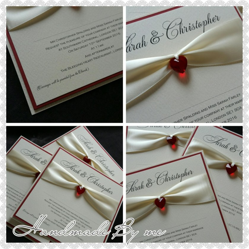 Wedding Invitations Handmade By Me With A Twist