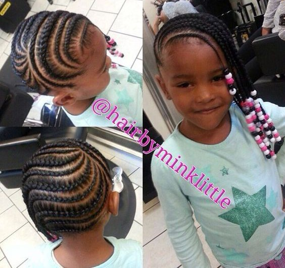 +10 Cornrows Hairstyles For Little Kids 2018 4