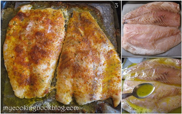 Филе от бяла риба и запечени картофи с риган и червен пипер