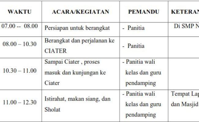 Contoh Proposal Kegiatan Umum Lampiran 1 2 3 Ofteachers Cute766