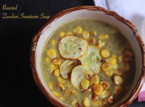 Roasted Zucchini Sweetcorn Soup2
