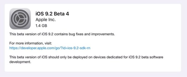 blogger-image--1828987833 Apple Releases iOS 9.2 Beta 4 to Developers Apps