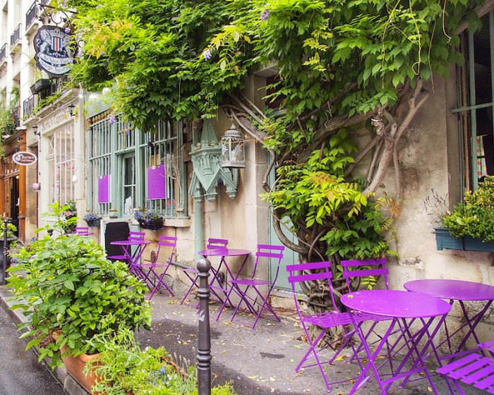 Colorful corner of Paris