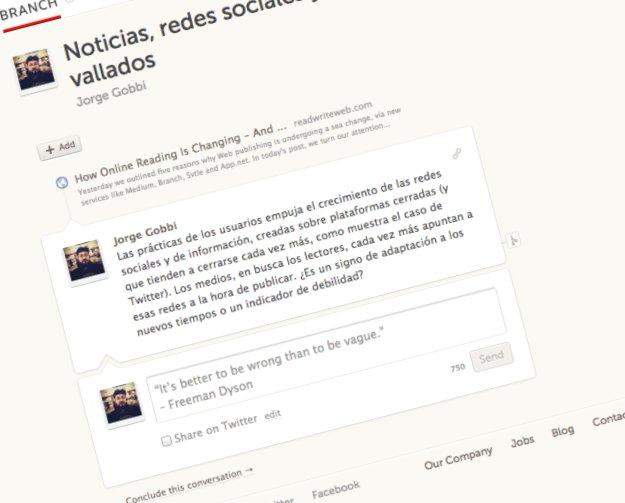 Branch, conversaciones más allá de Twitter