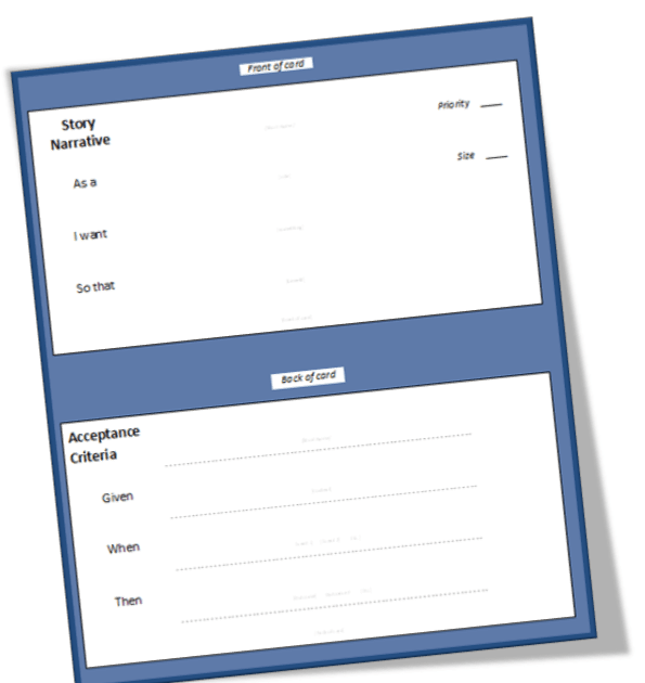 user story requirements template