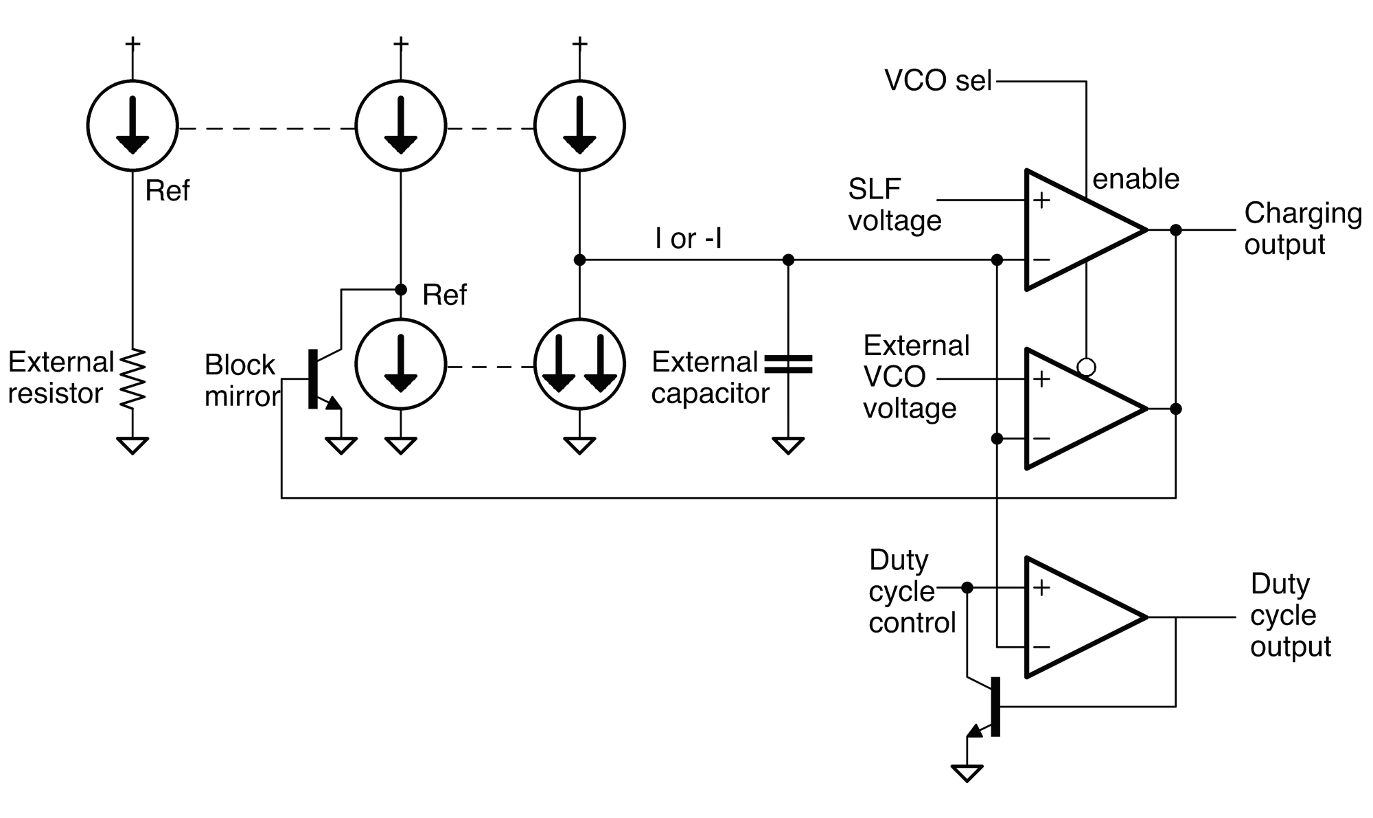 hight resolution of schematic of vco inside the 76477 sound chip