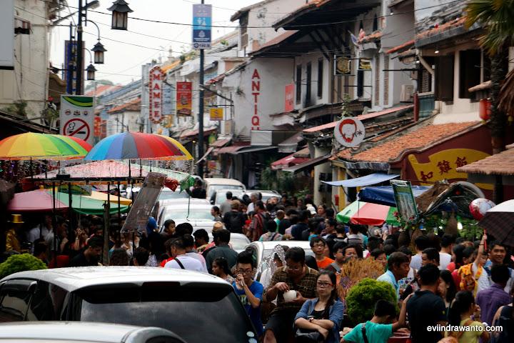 Pecinan Melaka yang ramai nian
