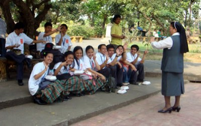 Sis Agnes gives pep talk to MCCID Students