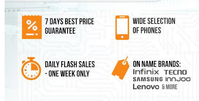 Jumia MOBILE WEEK MEGATHON  2016 - Buy Phones At Unbelievable  Prices (STARTED) 1