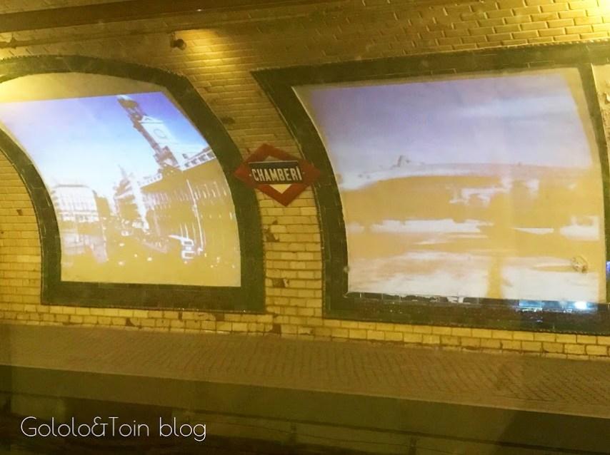 Andén estación fantasma de Chamberí
