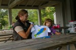 USA, Smith Mountain Lake, VA - Panna Laurie, Alex i jego ryba (Fot. Agnieszka Bajan)