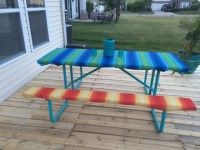 The Smart Momma: Tablecloth Holder on Picnic Table