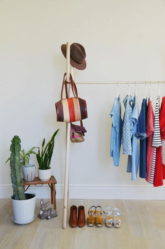 Hacer un colgador de ropa.