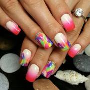 cute summer nail art design 2017