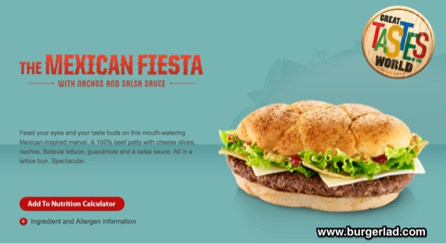 McDonald's Great Tastes of the World Mexican Fiesta