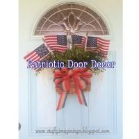 Crafty Imaginings & Silly Things: Patriotic Door Decor