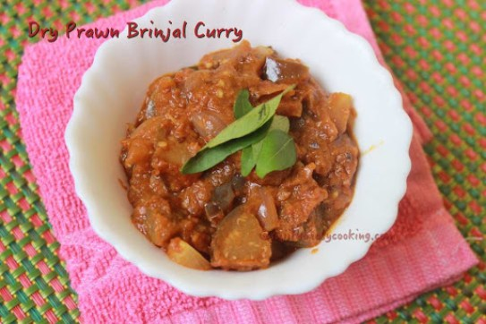 Dry Prawn Brinjal Curry1