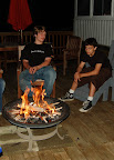Camp fire, smores and relaxation.
