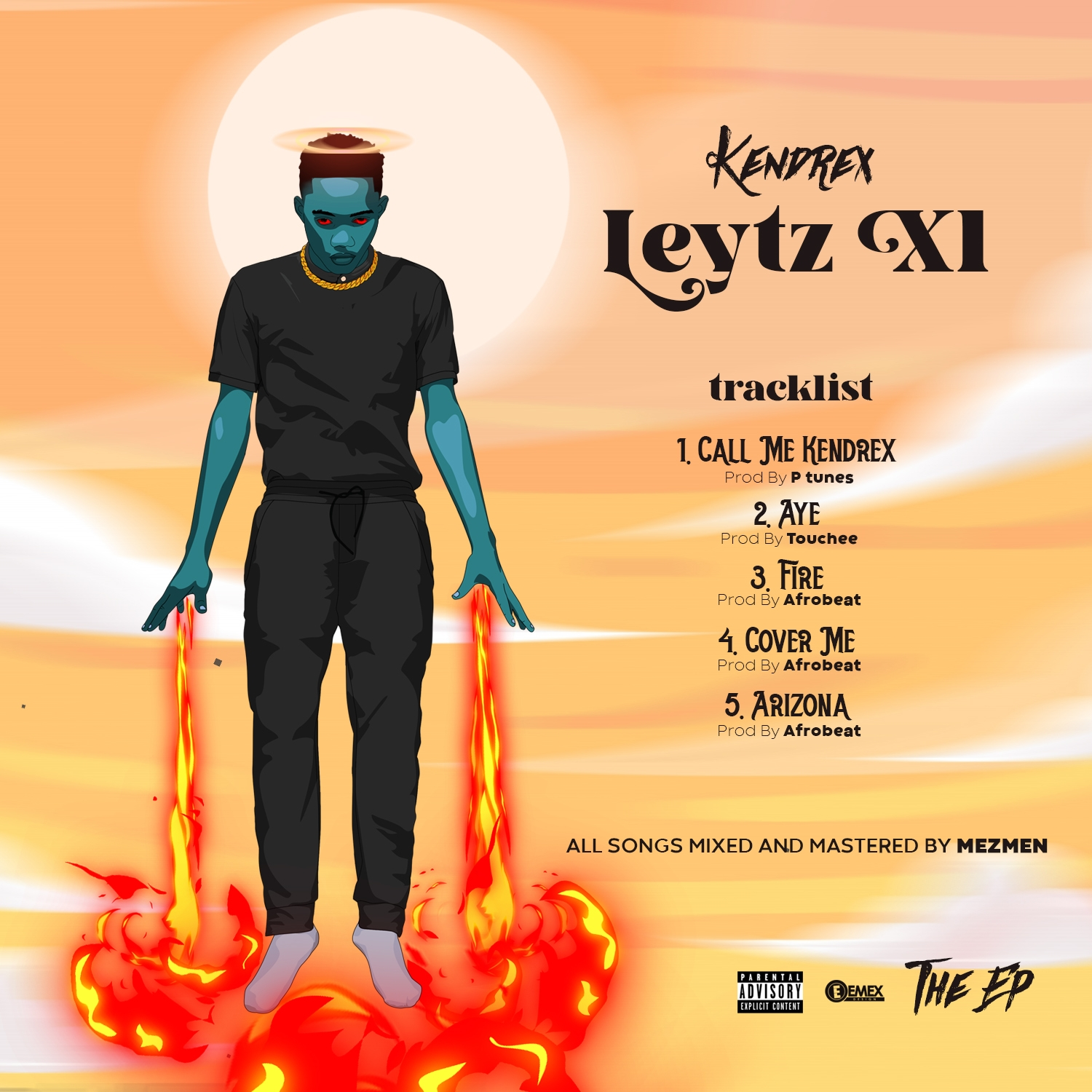 "Kendrex unveil artwork for his upcoming EP project title ""LEYTZ XL"""