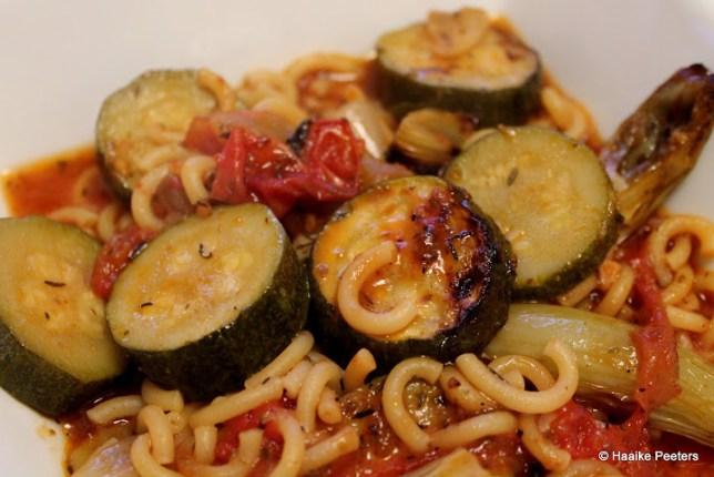 Ovenpasta met groenten (De moestuin van Mme Zsazsa)