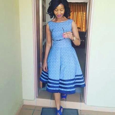 African Shweshwe Dresses Trends 2018 2019 Styles 2d