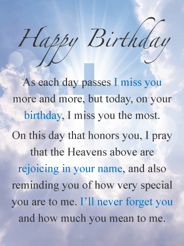 Happy Birthday in Heaven Quotes to dedicate to the deceased