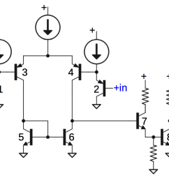 schematic of comparator circuit in 76477 sound chip slightly simplified  [ 1346 x 1000 Pixel ]