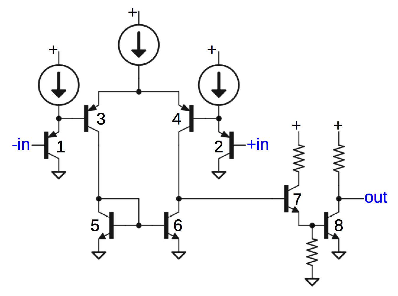 hight resolution of schematic of comparator circuit in 76477 sound chip slightly simplified