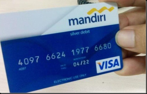mandiri kartu debit visa biasa