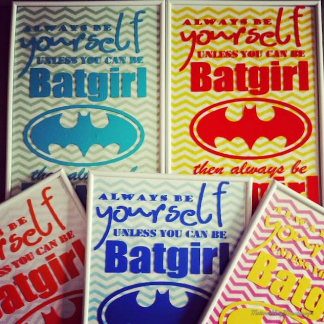 Diy Batgirl Sprüche Bilderrahmen Diy, familienblog, Geburtstag, Ideen, Kinder, Kindergeburtstag, Mütterblog, Party, Tutorial, anleitung, batman, superman, mädchen, teeny, jugendliche, party, kindergeburtstag