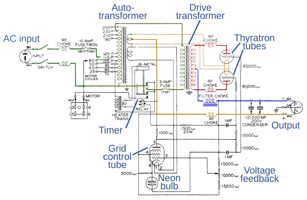 medium resolution of schematic of the rec 30 teletype power supply for some reason the schematic