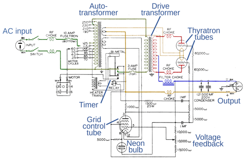 small resolution of schematic of the rec 30 teletype power supply for some reason the schematic
