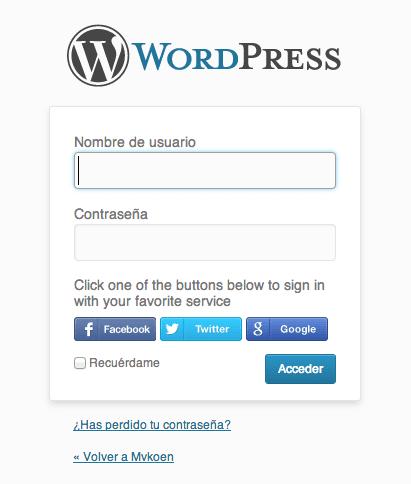Inicio de sesión en WordPress a través de redes sociales