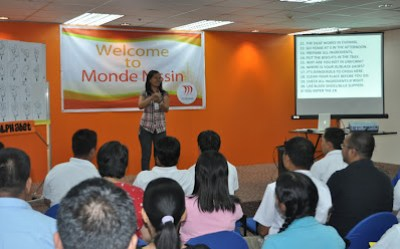 Batch 2: Ms. Nilda Villa, also of HR Department explains the purpose of conducting sign language training.