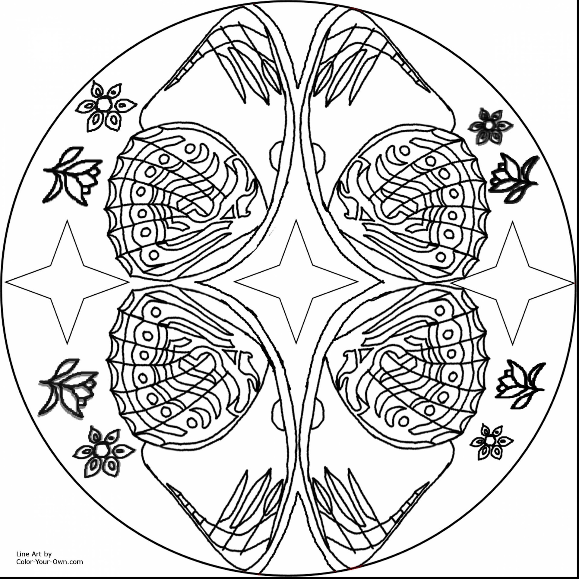 Hd Butterfly Mandala Coloring Pages Free