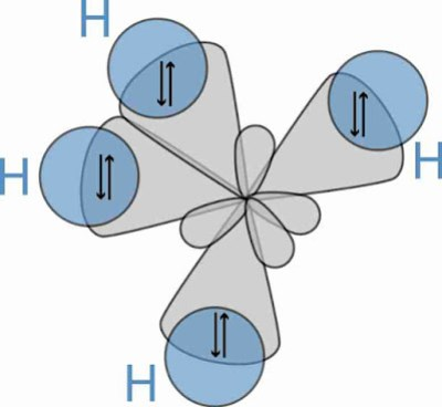 Hybridisation and shape