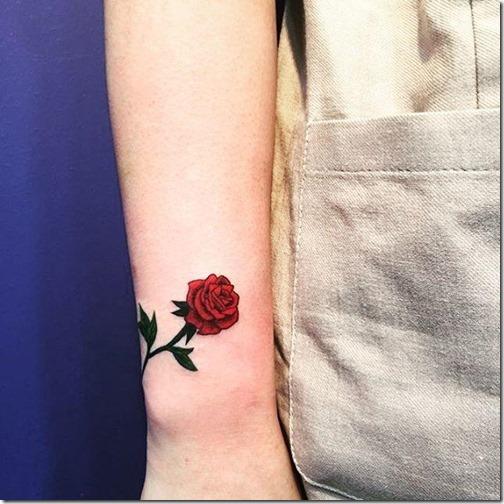 Tatuajes De Rosa En El Brazo Gastatuajes
