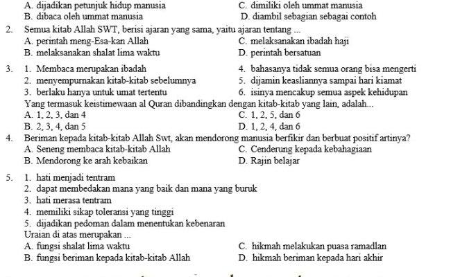 Kisi Kisi Soal Dan Kunci Jawaban Pas Prakarya Smp Kelas 7 Semester Ganjil Soal Terbaru Cute766
