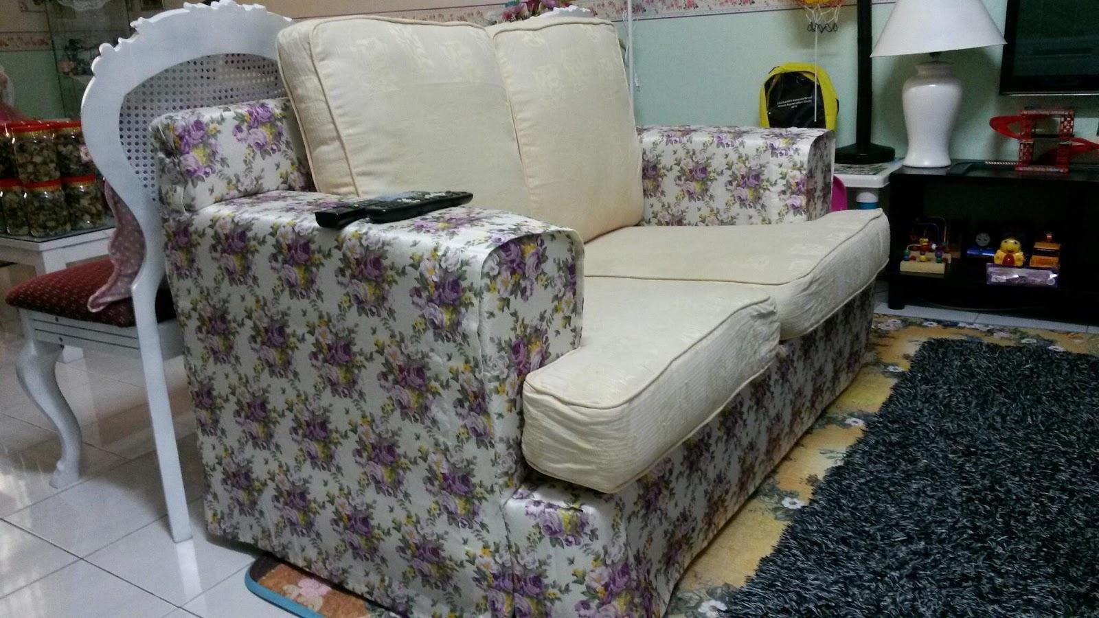 sofa rph half recliner diy projek tukar sarung  mama maszull