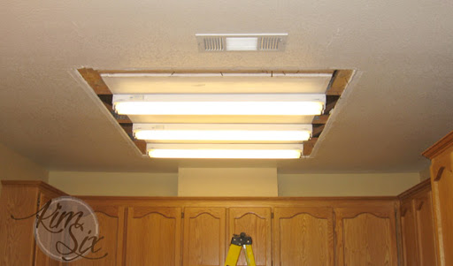 kitchen ceiling lighting commercial exhaust hood removing a fluorescent light box the kim six fix from