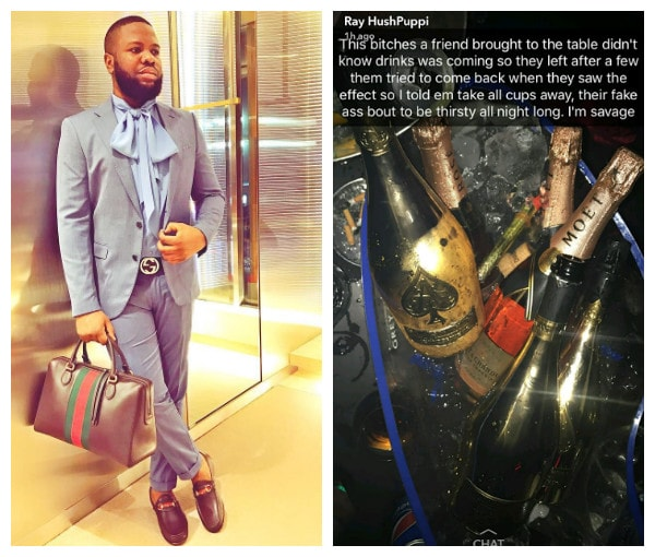 Hushpuppi Spends Over N2.3 Million Naira At Night Club In VI, Lagos (Photos)