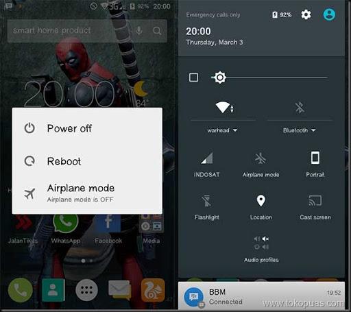 cara lain menggunakan tombol power smartphone android