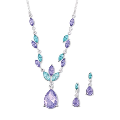 Violet Dazzle Necklace and Earring Gift Set