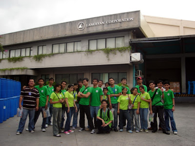 February 5: Students in front of Lamoiyan Corporation plant.