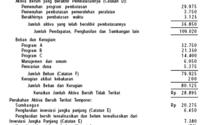 Contoh Laporan Keuangan Organisasi Nirlaba Catatan Q Cute766