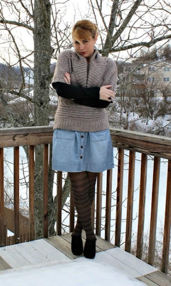 cowl-neck-sweater-denim-skirt-3