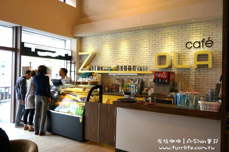ZOLA左拉咖啡館櫃台很氣派