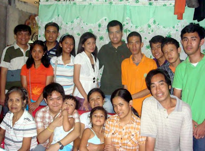 February 20: Joan Macalintal with Mother, Brother, Grandmother, Nephews and a deaf cousin (beside her) (Sta. Ana, Manila)